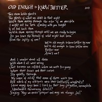 Old Enough to Know Better Lyrics 1